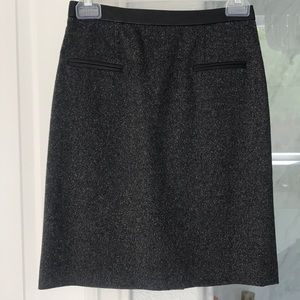 Rebecca Taylor tweed and lambs leather skirt